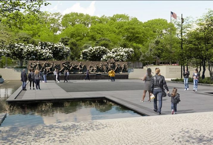 A rendering of the planned National World War I Memorial in Washington's Pershing Park
