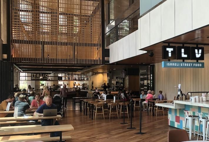 The Fareground food hall in Austin