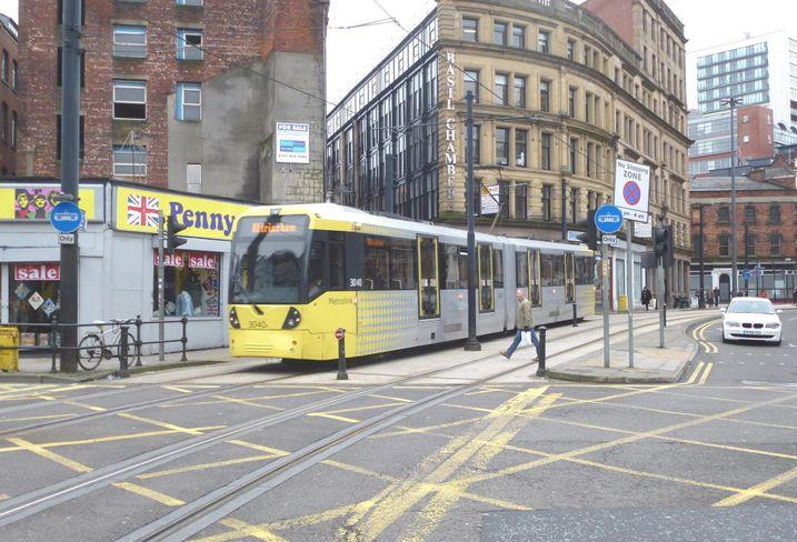 Shudehil Back Turner Street Manchester tram metrolink