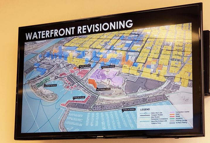 A look at on-going developments along the waterfront in Long Beach.