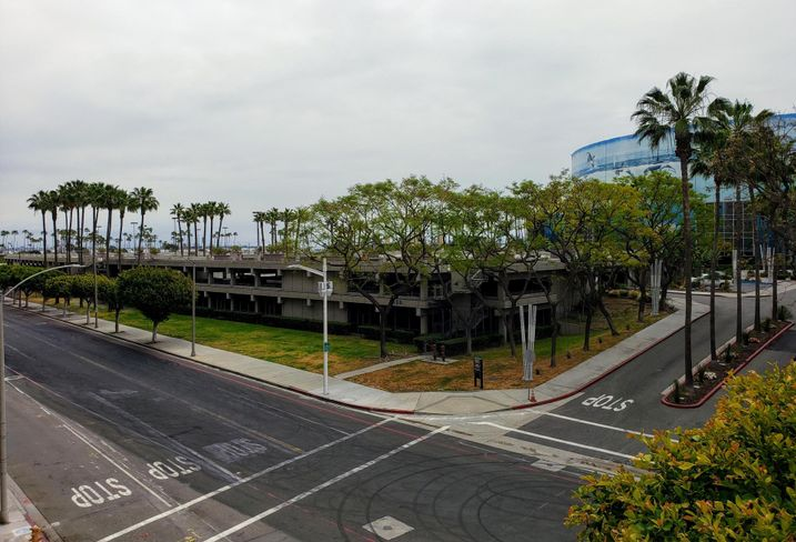 A side view of the elephant lot in Long Beach