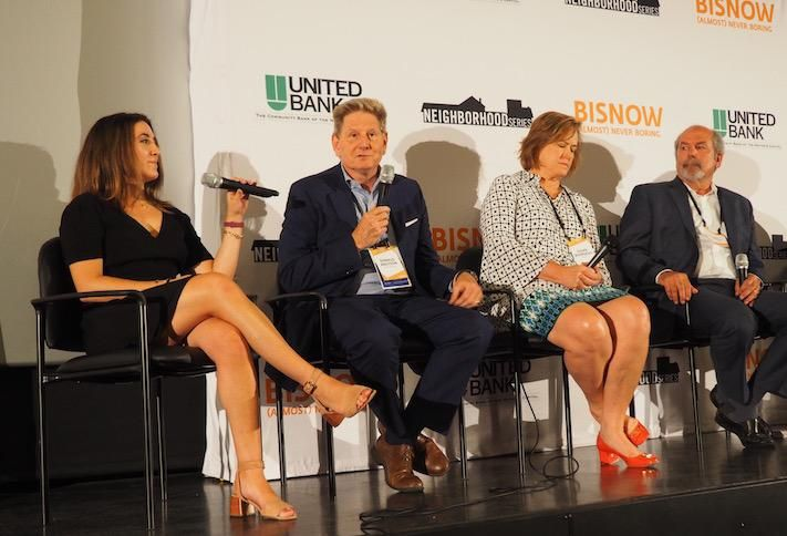 Bisnow's Liz Baker, Knutson Cos.' Donald Knutson, Rappaport's Susan Bourgeois and LandDesign's Peter Crowley
