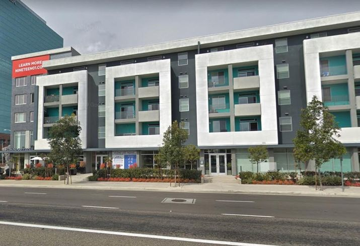 A 264-unit mixed-use residential and retail building at 1901 E. First Street in Santa Ana