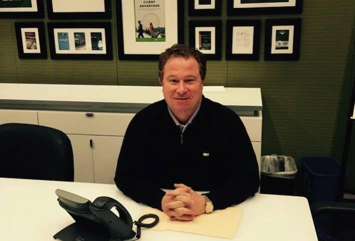 Andy Wimsatt in his CBRE office in 2014