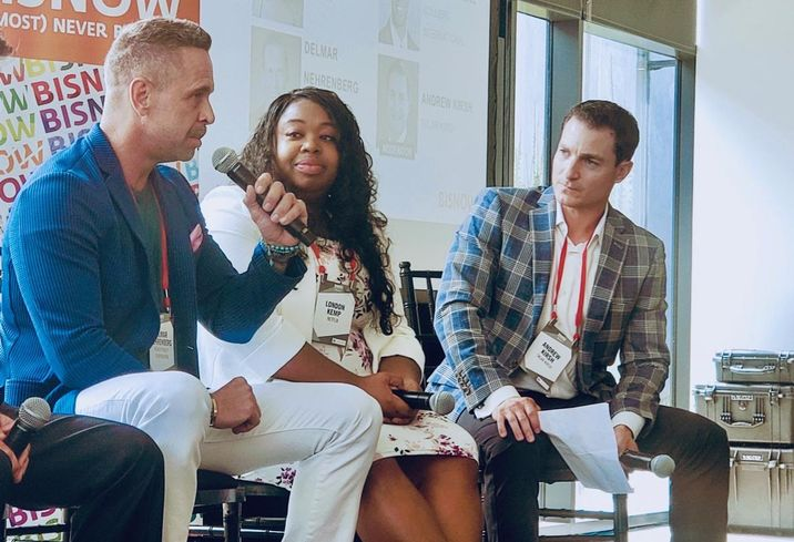 Kilroy Realty Corp.'s Delmar Nehrenberg, Netflix's London Kemp and Sklar Kirsh's Andrew Kirsh discuss what tenants want at Bisnow's Future of Los Angeles Office event at Tishman Speyer's 555 Aviation building in El Segundo