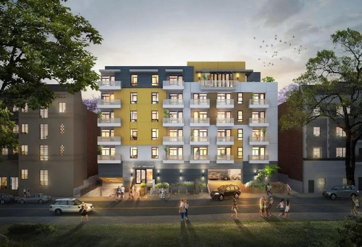 Rendering of an apartment development at 719 St. Andrews Place in Los Angeles