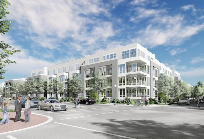 A rendering of MidCity's 1200 Fifth St. NW project in Mount Vernon Triangle.