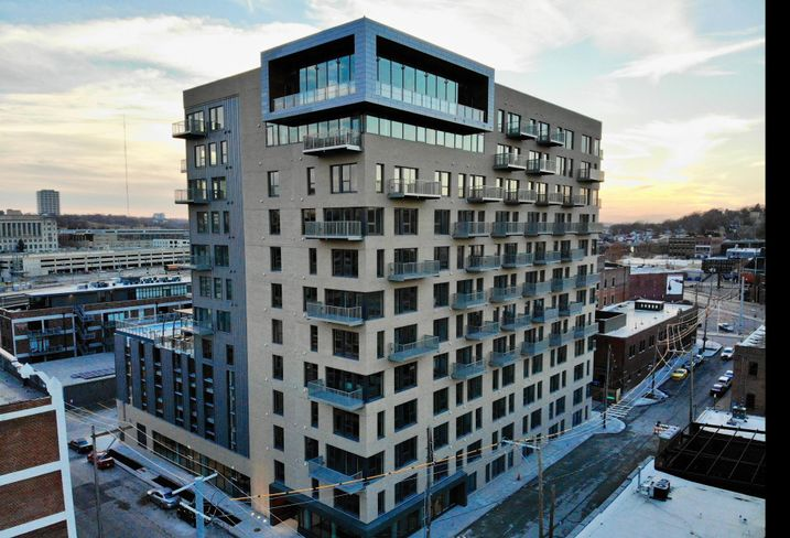 12-story luxury apartment building built by Prescient in Kansas City