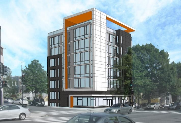 A rendering of The Warrenton Group's project at 3619 Georgia Ave. NW