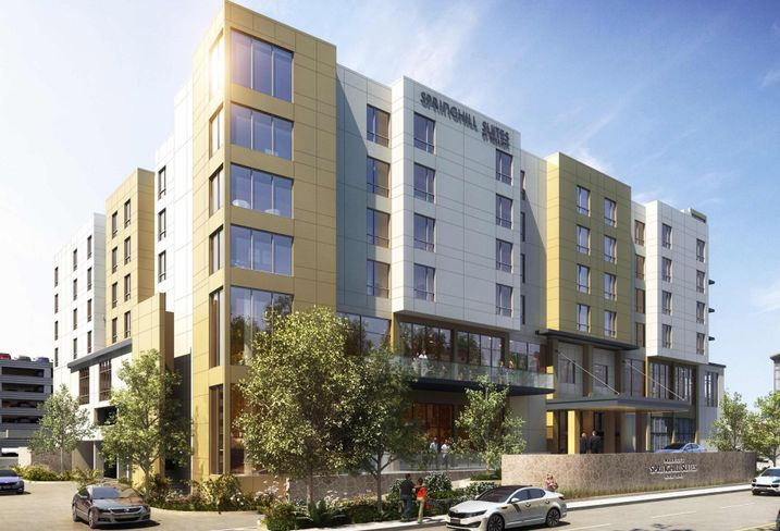 A rendering of Springhill Suites in Boston