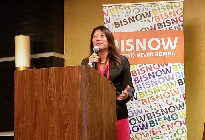 California State Treasurer Fiona Ma served as the keynote speaker at Bisnow's LA Opportunity Zones event held at The LA Grand Hotel Downtown