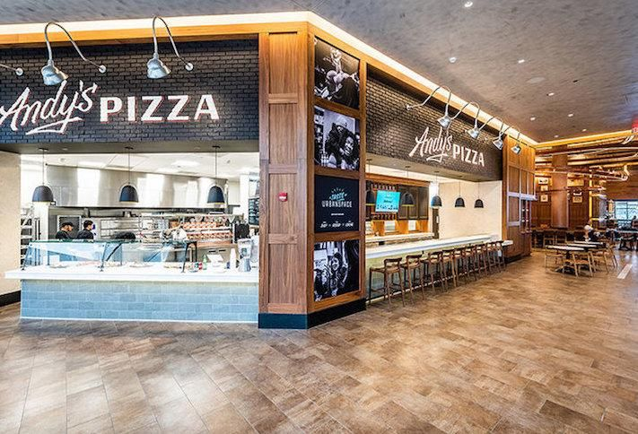 The Andy's Pizza in the Urbanspace Tysons food hall