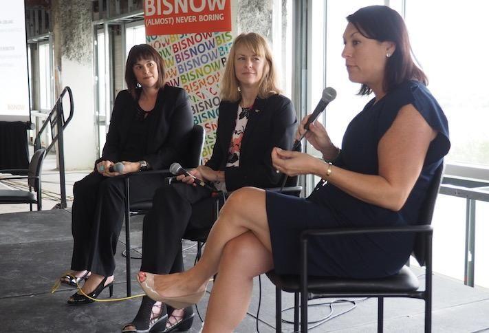 Virginia Economic Development Partnership's Lori Melancon, Virginia Tech's Brandy Salmon and Alexandria Economic Development Partnership's Stephanie Landrum