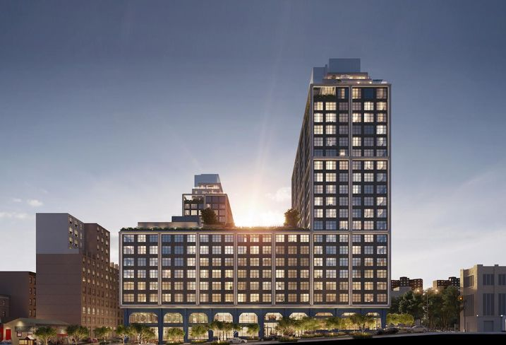 A rendering of Front & York, a new development coming to Dumbo, Brooklyn