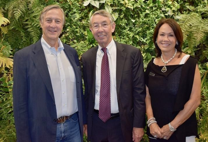 Eastbanc's Anthony Lanier, George Mason University's Stephen Fuller and Westlight Sales Director Mei-Mei Venners