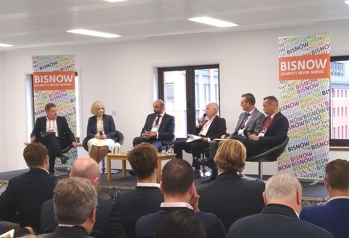 Graham Sibley (moderator), Lesley Lawson, Waheed Nazir, Roger Holbeche, Simon Scrase and Nick Payne at the Bisnow Birminguam BTR Update