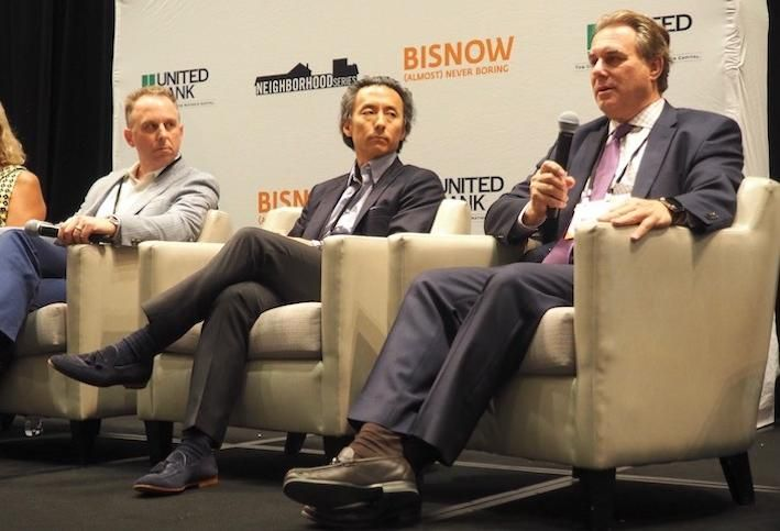 Carrollton Enterprises' Ian Kelly, Morning Calm Management's Mukang Cho and Melnick Real Estate Advisors' Scott Melnick