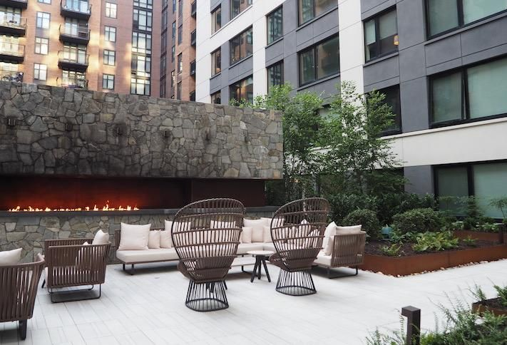 The lower-level courtyard at RESA NoMa