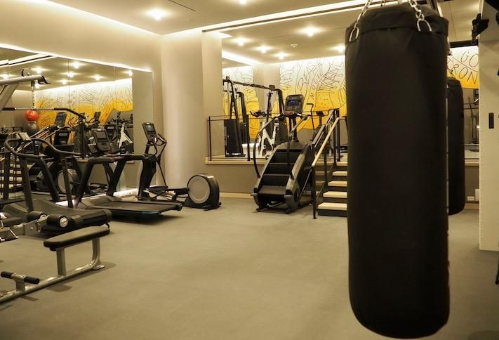 The fitness center at RESA NoMa