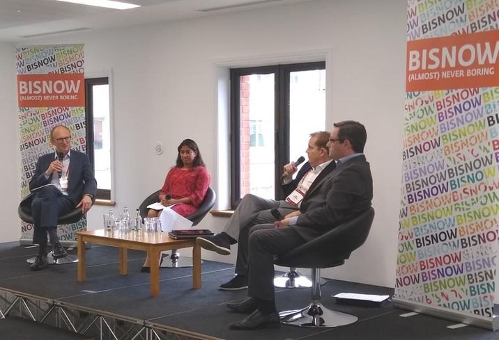 Birmingham btr event 11 sept 2019 Richard Beckingsale, moderator, with panalists Corinne Stevens, James Aumonier and Gavin Fraser