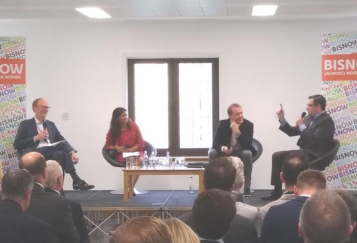 Richard Beckingsale, moderator, with panalists Corinne Stevens, James Aumonier and Gavin Fraser btr event birmingham sept 11 2019