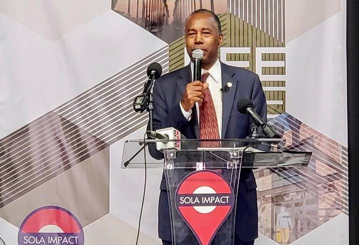 US HUD Secretary Ben Carson celebrates SoLa Impact's The BeeHive, a business campus supporting qualified opportunity zone business in South Los Angeles.