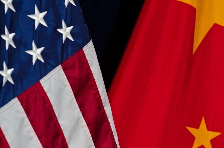 Us-china flags