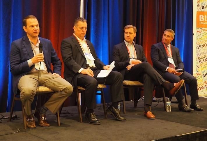 Walker & Dunlop's Andrew Gnazzo, PGIM Real Estate Finance's Brian Salyards, GID's Gregory Bates and Princeton Properties' Andrew Chaban