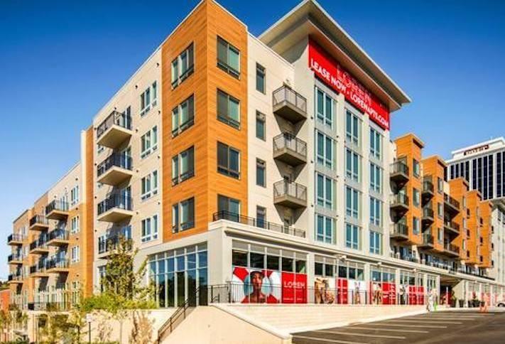 The Loren Falls Church apartment building at 6410 Arlington Blvd.