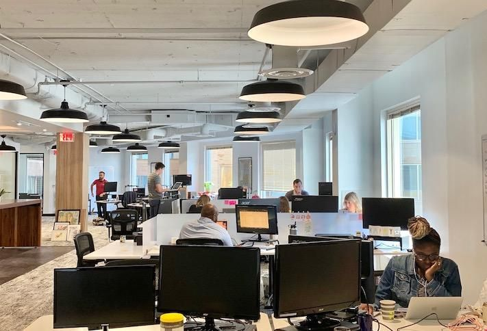 TransitScreen's new office at 750 17th St. NW