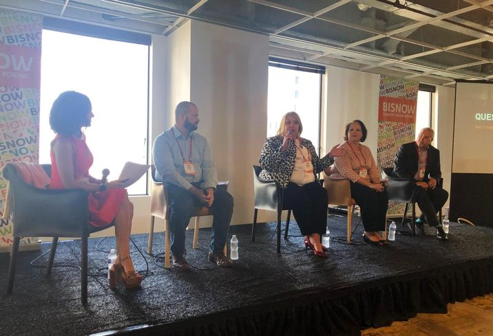 Integrate President Allie Danziger, WhyHotel Co-Founder Jason Fudin, The Whitehall Director of Sales & Marketing Tanya Taylor, Pride Management Vice President Melissa Van Sickles, Stout Street Hospitality GM Eddie Timmons