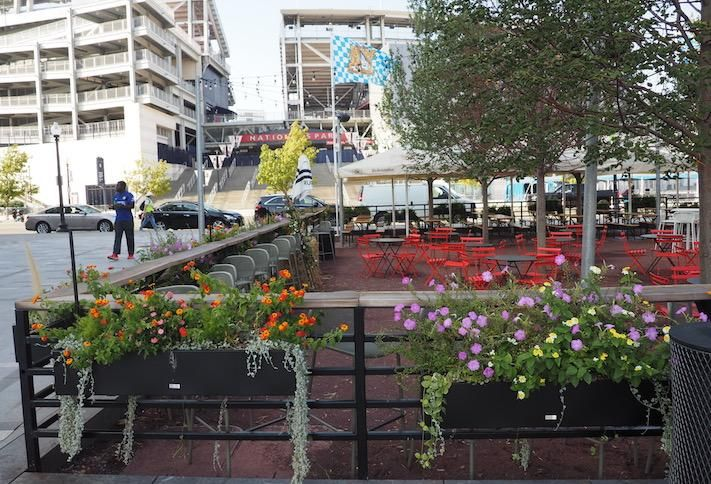 The Dacha beer garden across from Nationals Park