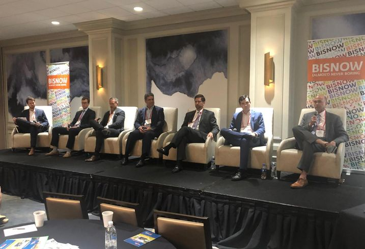 Higginbotham Associate Braden Griffith, FCP Associate Cole Kellogg, Hunt Real Estate Capital VP John Sloot, Arel Capital Managing Partner Richard Leibovitch, Allied Orion Group CEO Ricardo Rivas, AECOM Capital Associate Alec Morris, Buckhead Investment Partners CEO Kevin Kirton