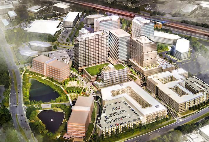 A rendering of Brookfield's Halley Rise development in Reston