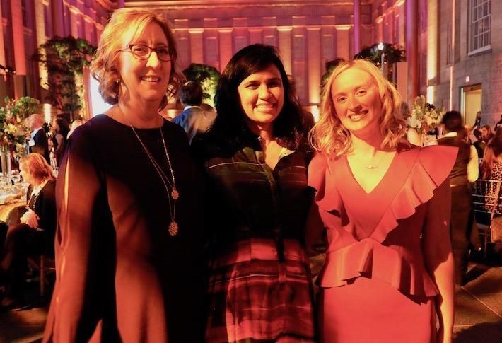 CREW D.C. President Lynn Stith Bennett, Champion Award winner Revathi Greenwood and President-Elect Jenna Kirkpatrick Howard