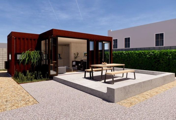 A rendering of Crate Modular's Accessory Dwelling Unit or ADU