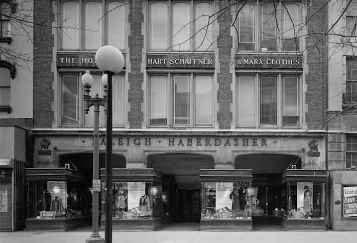 The Raleigh Haberdasher store at 1310 F St. NW, which operated from 1923 to 1971