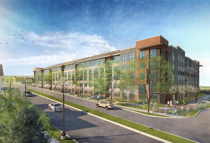 A rendering of The Everly at Largo Metro apartment project