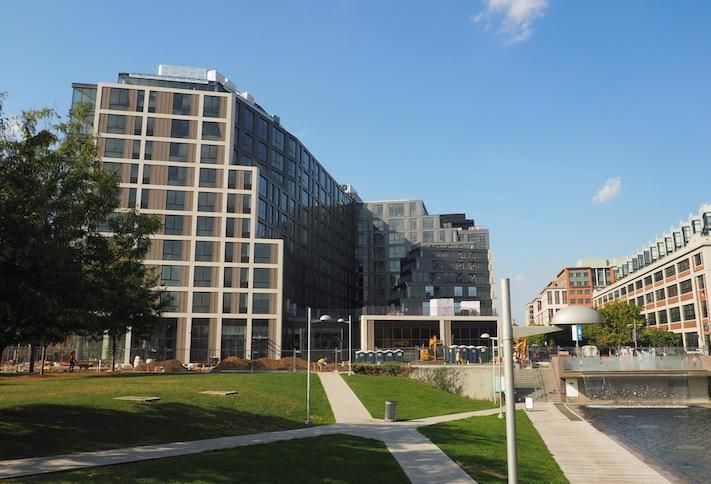 Construction nearing completion at The Estate apartment building at The Yards, photographed Oct. 2