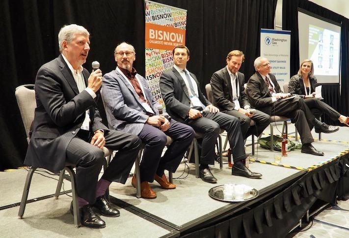Jefferson Apartment Group's Jim Butz, Pender's Zach Murphy, Morgan Properties' Jonathan Morgan, Continental Realty Corp.'s JM Schapiro, CoStar's Michael Cohen and CohnReznick's Emily Butler