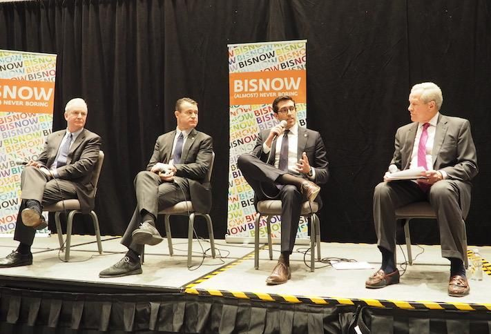 Sen. Chris Van Hollen, Sen. Todd Young, HUD's Alfonso Costa and NMHC's Doug Bibby