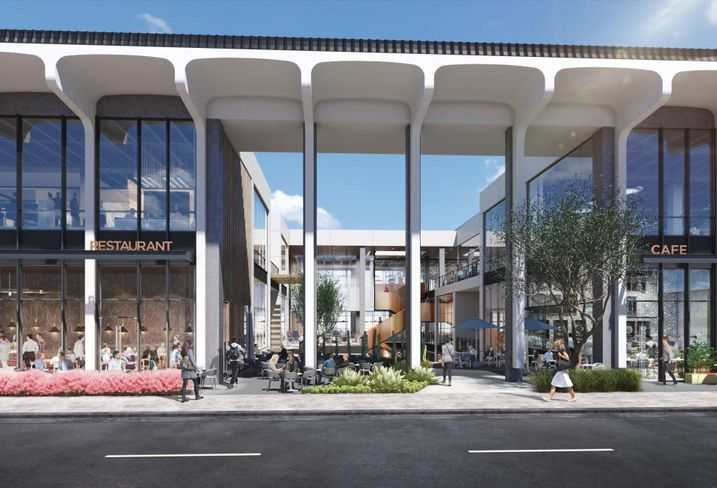 Rendering of GPI Cos.' West End mixed-use creative office and retail project in West Los Angeles