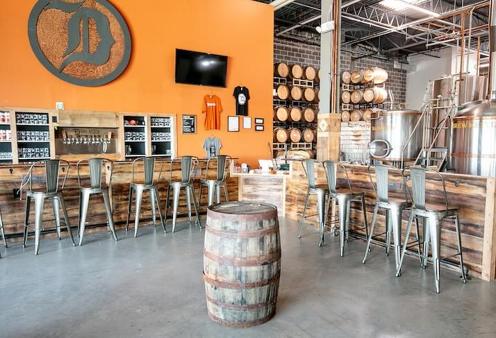 The Dynasty Brewing taproom inside St. John Properties' Ashburn Crossing park
