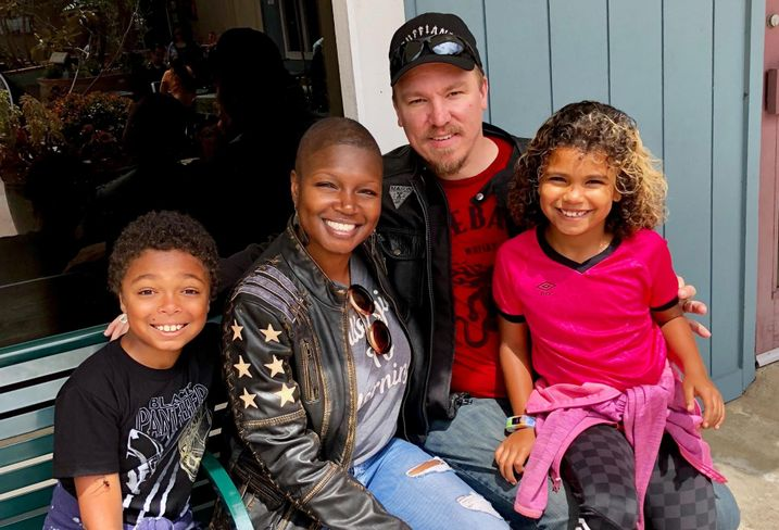 Los Angeles County Development Authority Executive Director Monique King-Viehland with her family