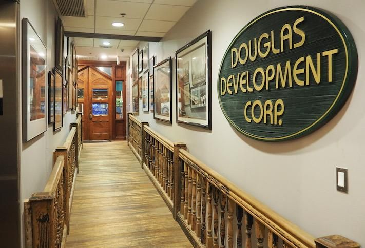 The entrance to Douglas Development's office in Chinatown