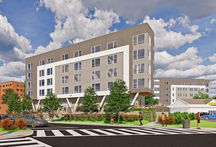 A rendering of the Livingston Place senior affordable housing project in Southeast D.C.