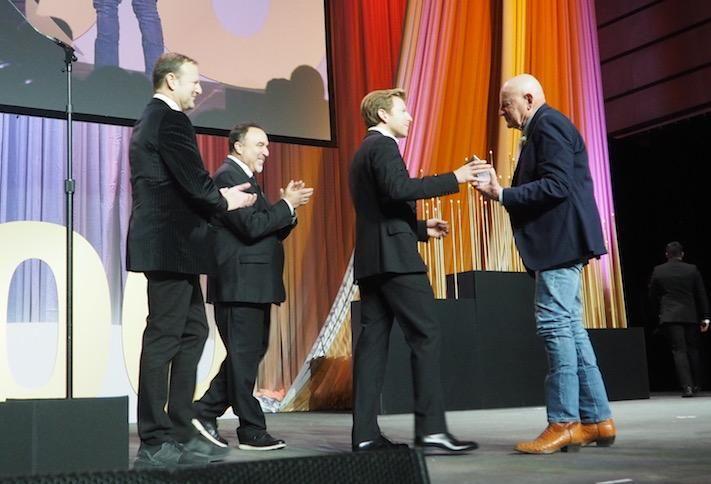 Douglas Development's Norman Jemal, Paul Millstein, Matthew Jemal and Douglas Jemal at the 2019 Washington Business Hall of Fame dinner