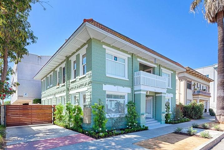 A multifamily property at 1316-1322 East 3rd St. in Long Beach