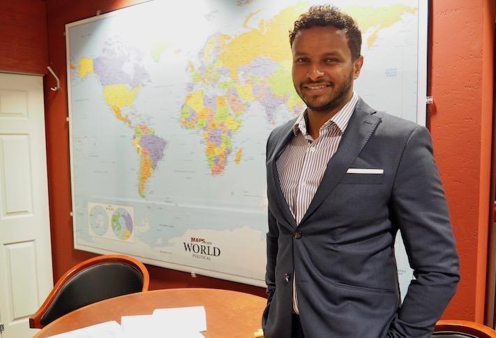 Acumen Cos. Chairman Abiud Zerubabel in his East End office