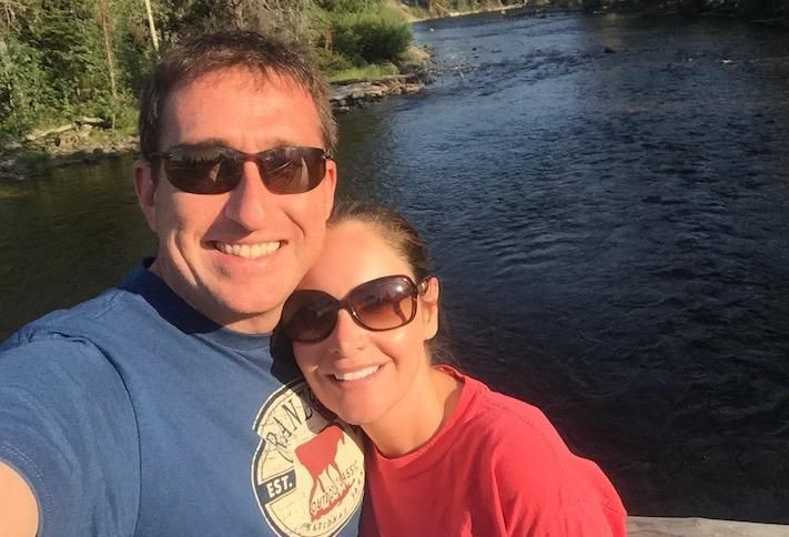 Fore Property Co.'s Jim Sullivan on vacation with his wife
